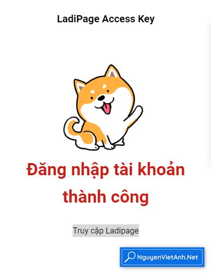 Trang dich LadiPage Access Key
