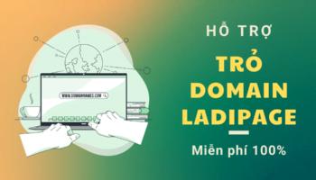 Hỗ trợ trỏ domain ladipage miễn phí