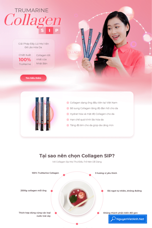 Ladipage mẫu mỹ phẩm Ống hút Collagen