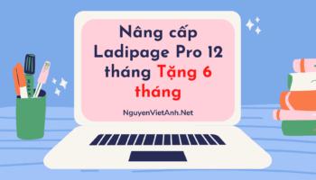 Nâng cấp Ladipage Pro 12 tháng Tặng 6 tháng