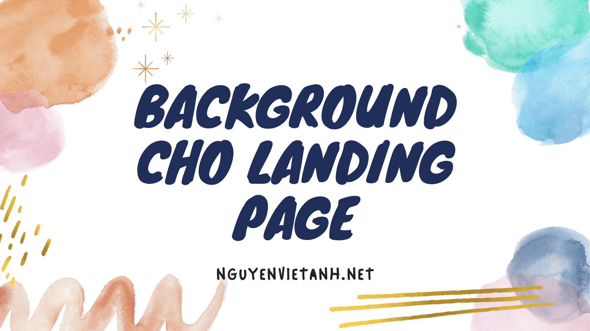 Ảnh nền Background cho Landing page