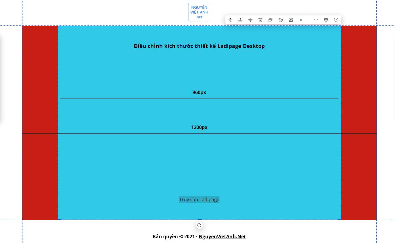 Kích thước thiết kế Ladipage Desktop